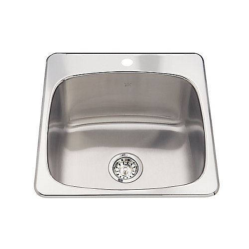Single sink 20 Ga 1 hole drilling