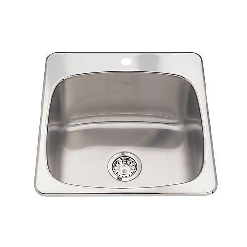 Kindred Single sink 20 Ga 1 hole drilling