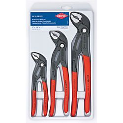 Knipex Forged Steel Nickel Plated Pliers Wrench Set (3-Piece)
