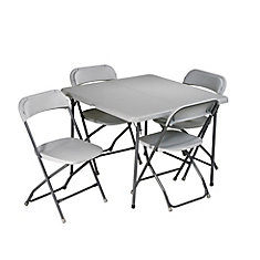 5-Piece Resin Folding Table and Chairs Set