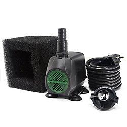 Angelo Décor Pompe de fontaine 1 700 LPH avec technologie Safe-Stop et cordon de 15 pi