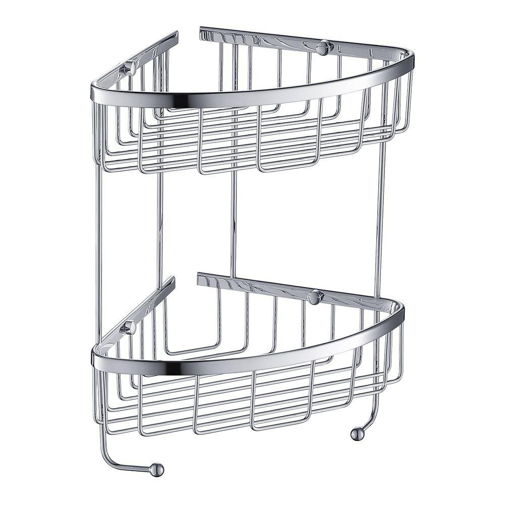 2 Tier Wire Basket - Chrome
