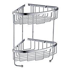 2 Tier Wire Basket - Chrome
