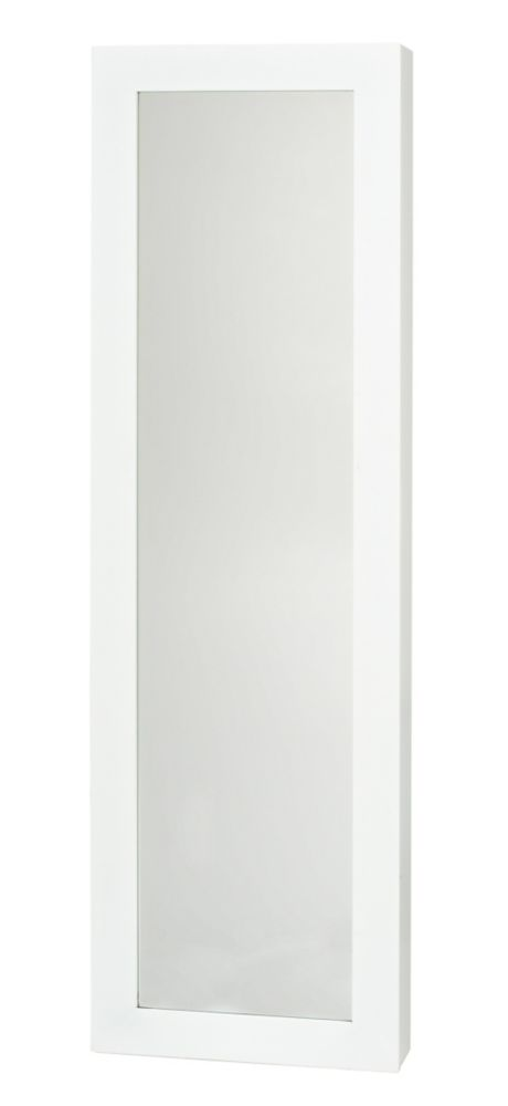 PRO-DF Jewelry Armoire With Mirror in White