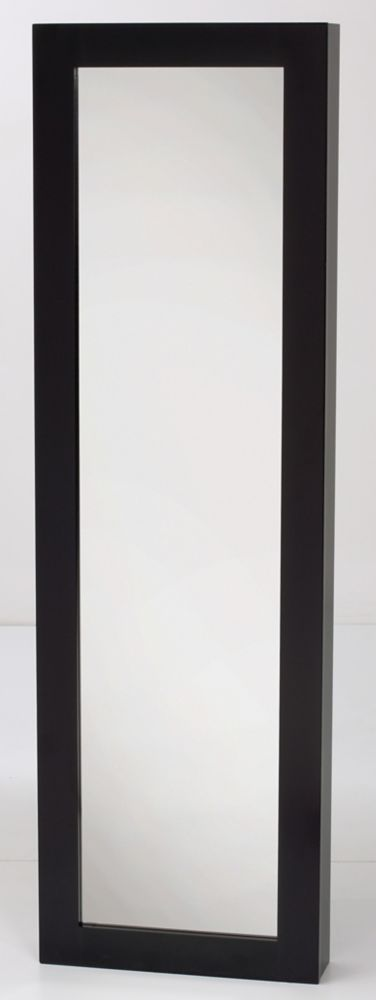 Jewelry Armoire With Mirror, Black