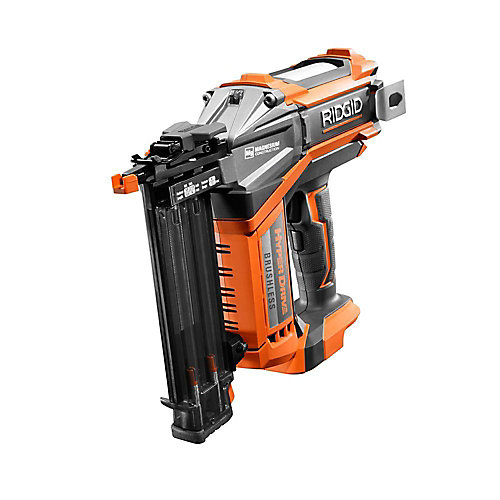18V Cordless Brushless HYPERDRIVE 18-Gauge 2-1/8-Inch Brad Nailer (Tool-Only) Belt Clip and Bag (500 Brad Nails)