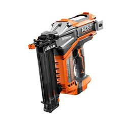 RIDGID 18V Cordless Brushless HYPERDRIVE 18-Gauge 2-1/8-Inch Brad Nailer (Tool-Only) Belt Clip and Bag (200 Brad Nails)