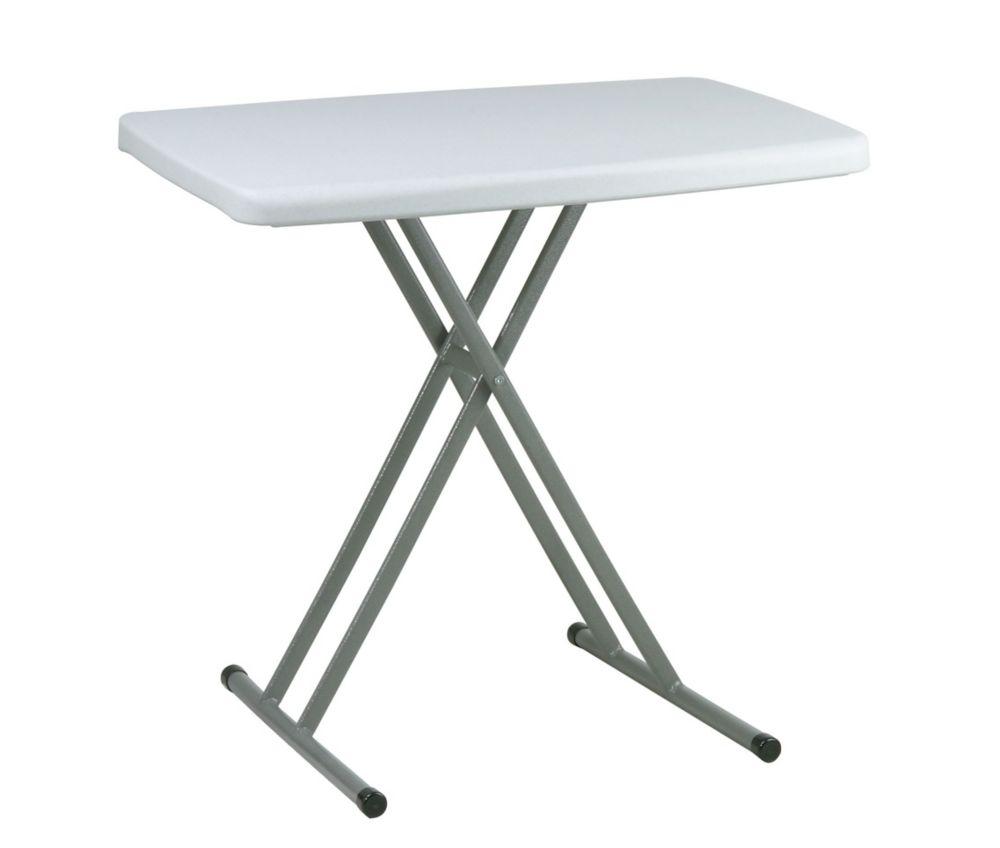 Table pliante personnelle à usages multiples ajustables en hauteur&#x3b; ensemble de 4