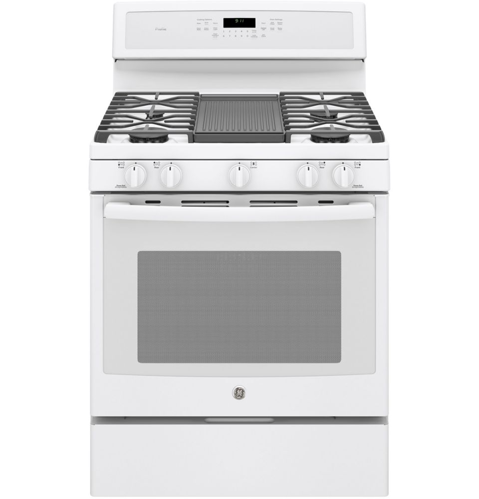 5.6 cu. ft. 30-inch Free-Standing Convection Gas Range with Steam Clean in White