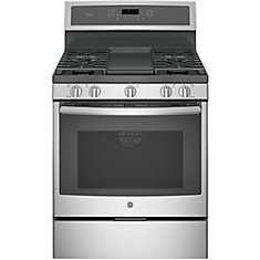 5.6 cu. ft. 30-inch Free-Standing Convection Gas Range with Steam Clean in Stainless Steel