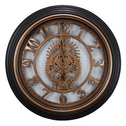 Kiera Grace Gears 20 Inch.  Wall Clock In Bronze Finish