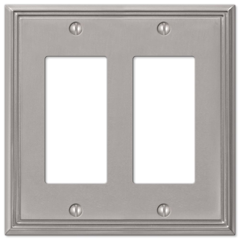 Hampton Bay Metro Line Cast Brushed Nickel Wplt RR