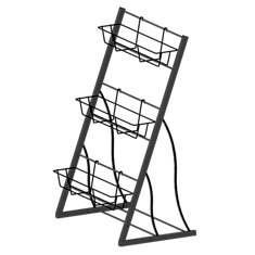 42-inch 3-Tier Vertical Garden Rack in Black