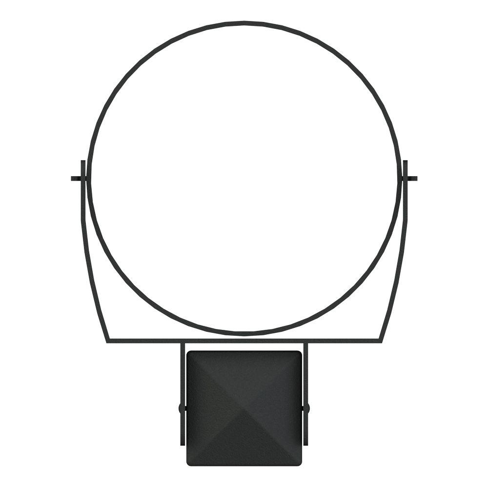 Post Pot Holder, 10 Inch Ring - Black