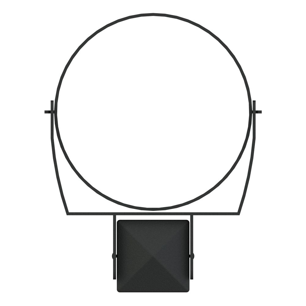 Post Pot Holder, 10 Inch Ring - Black