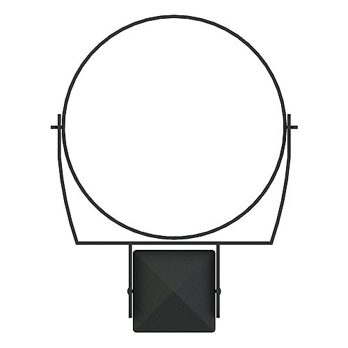 Peak Products 10-inch Post Pot Holder Ring in Black