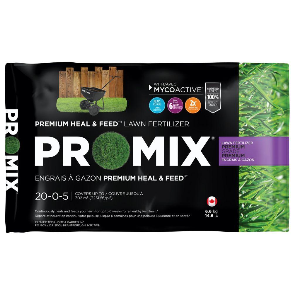ENGRAIS À GAZON PREMIUM PRO-MIX<sup>®</sup> HEAL & FEED� 20-0-5