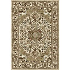 Glorious Beige Tan 5 ft. 3-inch x 7 ft. 4.6-inch Indoor Traditional Rectangular Area Rug