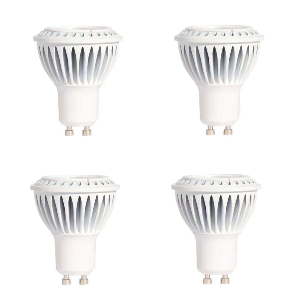 GU10 7W 3000K 500LM CRI90 Dimmable LED Bulb - 4-Pk