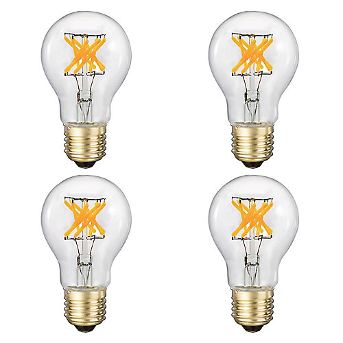 LED Filament Clear A19 75W 500LM CRI90 Dimmable - Case of 4 - ENERGY STAR®
