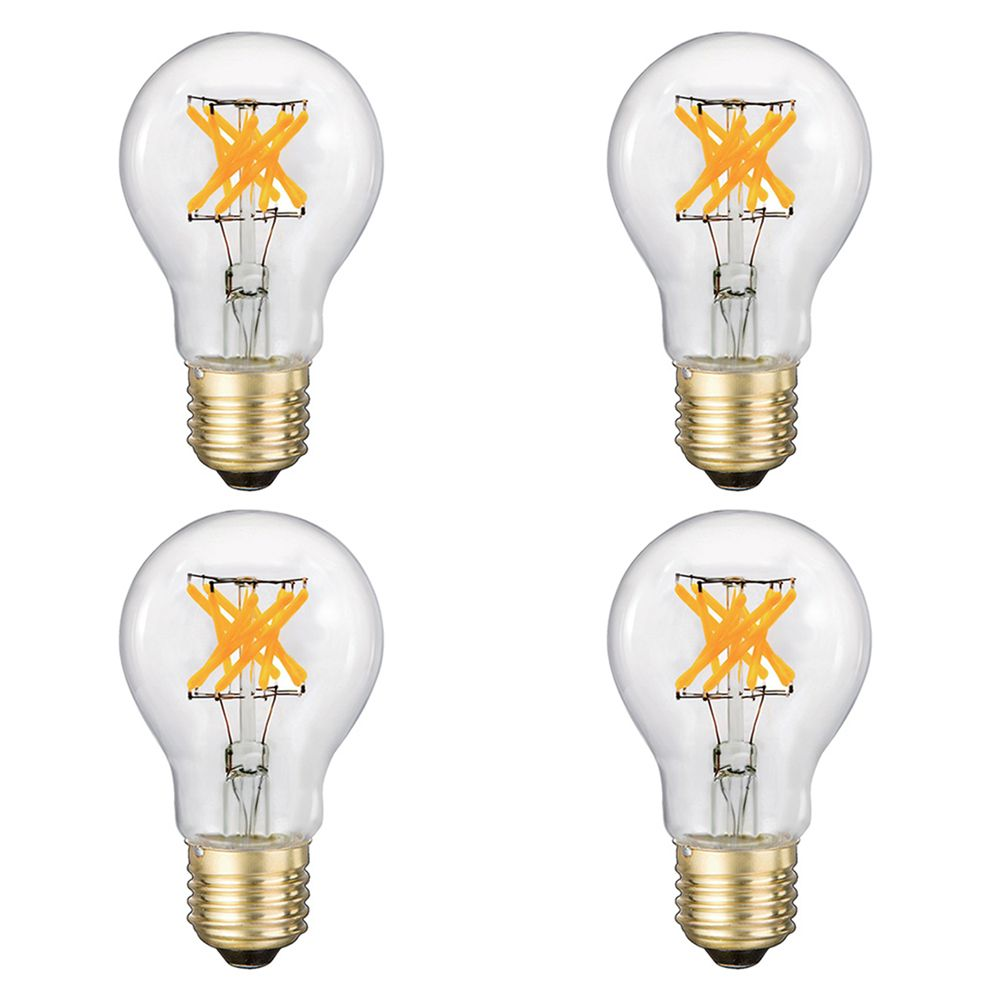 Vintage A19 Clear 5W 2700K 500LM Dimmable CRI90 LED BULB CUL Listed-4PK