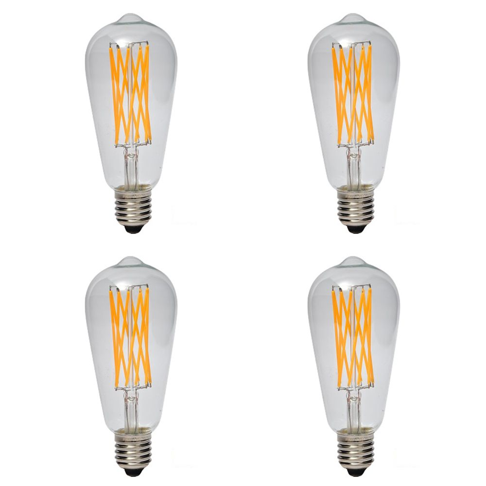 Vintage Nostalgic Filament LED 5W 2200K 500LM CRI90 Dimmable CUL Listed -4pk