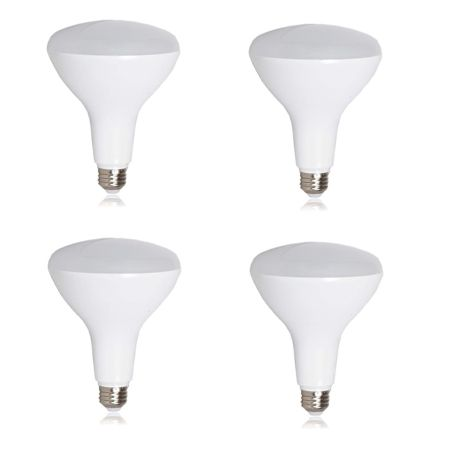 BR40 18W 2700K 1400LM CR82 Dimmable LED Bulb - 4-Pk