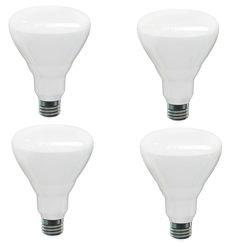 BR30 14W 2700K 1100LM CR82 Dimmable LED Bulb - 4-Pk