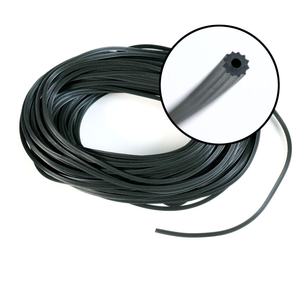 .125-inch x 100 ft. Black Spline