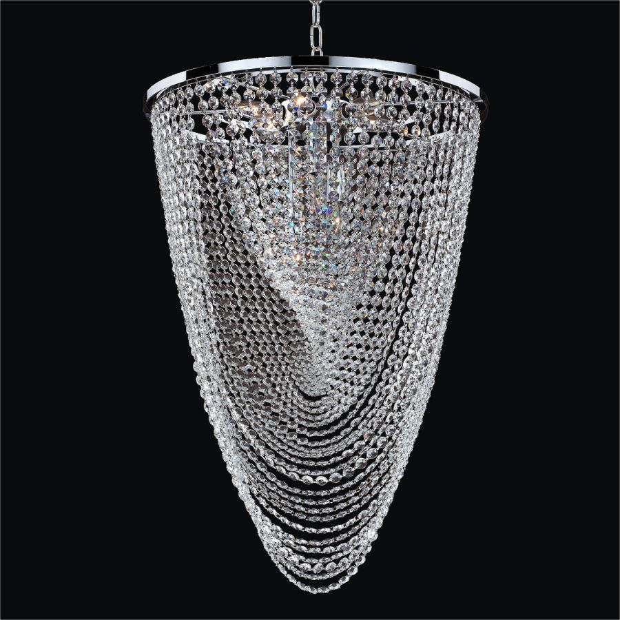 Glow Lighting Oasis 9-Light Silver Pearl Incandescent Chandelier