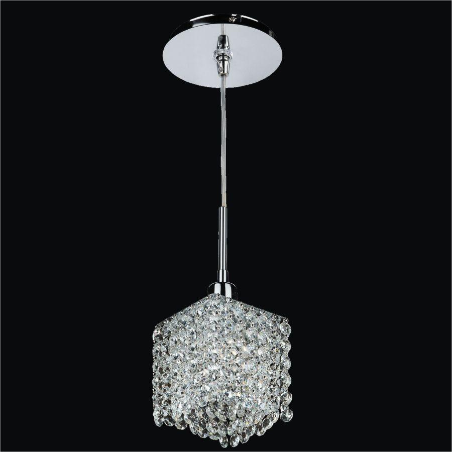Glow Lighting Fuzion X 1-Light Silver Pearl Halogen Pendant