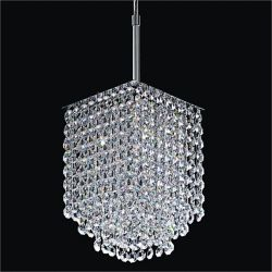 Glow Lighting Fuzion X 1-Light Silver Pearl Halogen Pendant