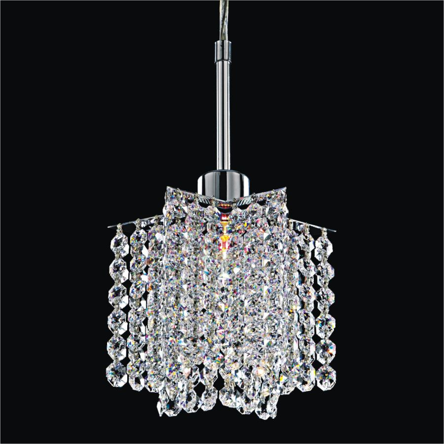 Glow Lighting Veranda 1-Light Silver Pearl Halogen Pendant