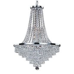 Glow Lighting Veranda 9-Light Silver Pearl Incandescent Chandelier