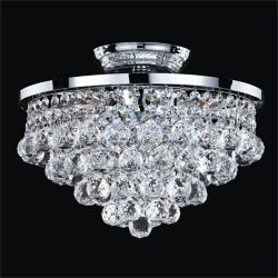 Glow Lighting Vista 6-Light Silver Pearl Incandescent Semi-Flush Mount Light