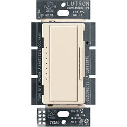 Lutron Maestro Single Pole/3-Way/Multi Location Digital LED/CFL Dimmer, Light Almond