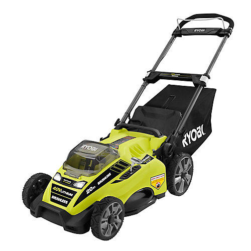 20-inch 40V Lithium-Ion Brushless Cordless Push Lawn Mower w/ 5.0 Ah Battery & Charger