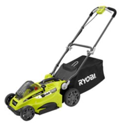 RYOBI 16-inch 40V Li-Ion Cordless Battery Push Lawn Mower - 4.0 Ah Battery and Charger Included