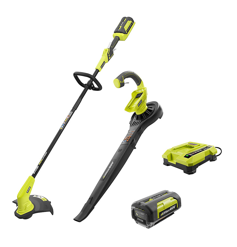 40V Lithium-Ion Cordless String Trimmer and Blower / Sweeper Combo Kit (2-Tool)