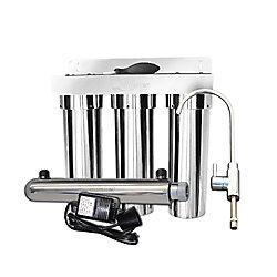 CasaWater Under Sink Stainless Steel Water Filtration System
