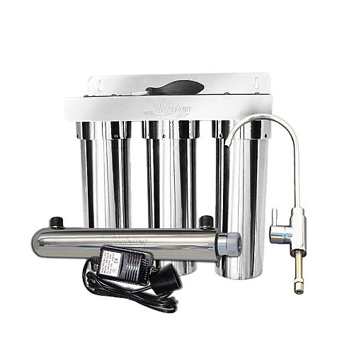 CasaWater Under Sink Stainless Steel Water Filtration System