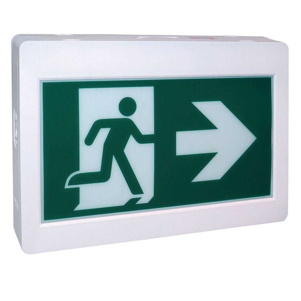 Rectangular Running Man Exit Sign