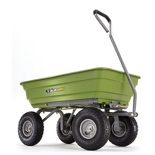 Chariot à bascule de jardin, 20 po x 19,5 po x 38,7 po, polyéthylène