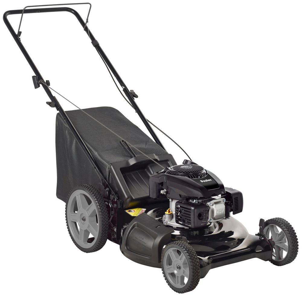 21 Inch High Wheel 3 In 1 Push Mower 6.75 Foot Pounds Torque