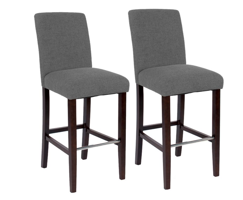 Harper Bar Stool with Spill Protection and No-Sag Seat - Grey (2 Pack)