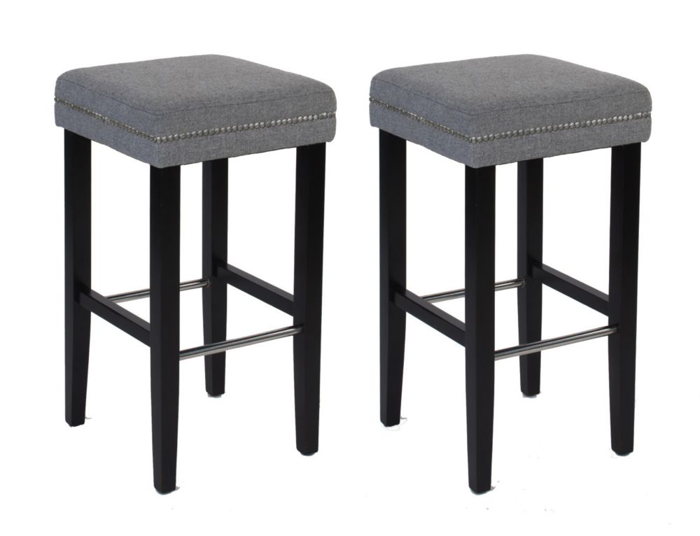 Sawyer Collection Tabouret de Bar - Gris (Pack 2)