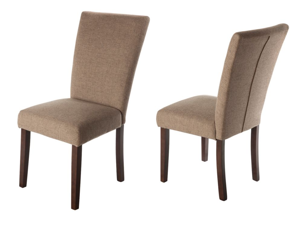 Harper Dining Chair with Spill Protection and No-Sag Seat - Beige (2 Pack)