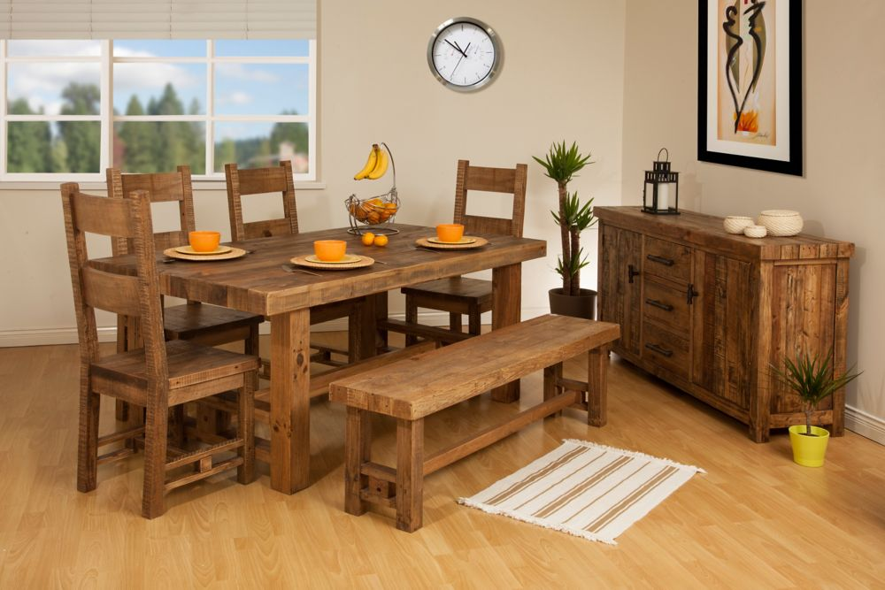 Reclaimed Wood Country Cottage Dining Set