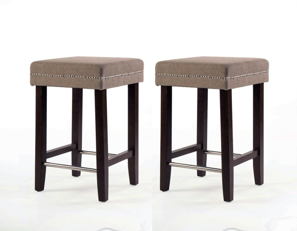 Sawyer Collection Counter Stool - Beige (2 Pack) IF-ST-258-BG2pk in Canada