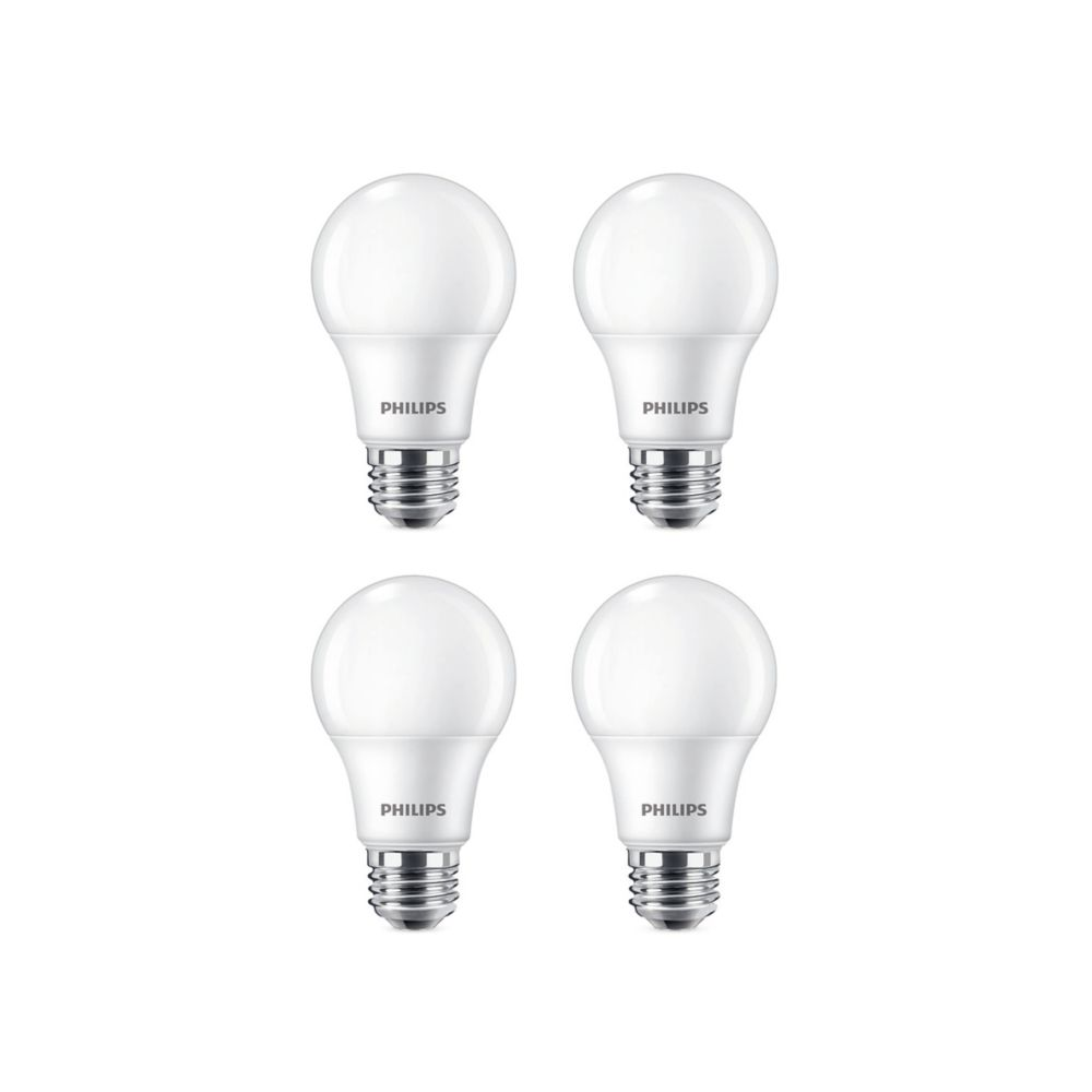 Philips 60W Soft White (2700K) A19 LED Light Bulb (4-Pack)
